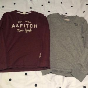 A&F Long-sleeve shirts 2pcs